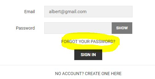"Choose ""forgot your password"""
