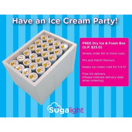 Foam Box with Dry Ice (Lasts 5 hours or more) U.P. $25
